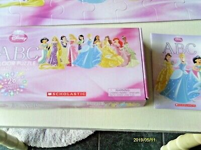Disney Princess 28 piece floor puzzle plus book from Scholastic