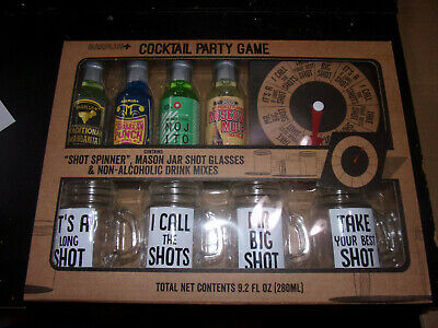 Cocktail Party Games (Barplus Cocktail party game set SHOT SPINNER MASON JAR SHOT GLASES )