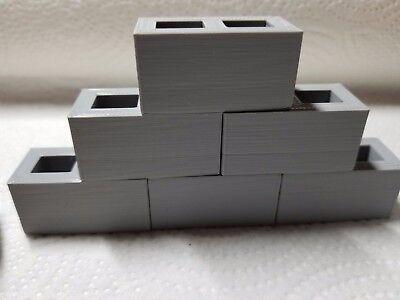 RC 1/10 Scale Cinder Concrete Block Rock Crawlers Truck Garage Mini Accessories