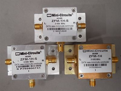 3pc Mini-circuits 1 Zfm-1h 2 Zfm-1h-s Coaxial Frequency Mixers 2-500mhz Used
