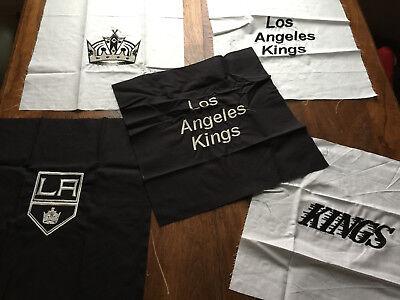 LOT LOS ANGELES KINGS ICE HOCKEY EMBLEMS JERSEY  LOGO FABRIC QUILT BLOCKS