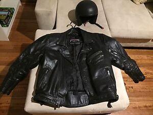 River road leather motorcycle jacket and black helmet Heidelberg Banyule Area Preview