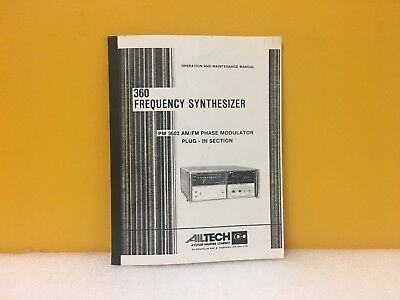 Ailtech 360 Frequency Synthesizer Pm 3602 Amfm Phase Modulator Plug-in Section