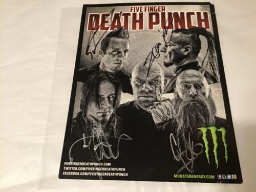 Five Finger Death Punch signed poster
