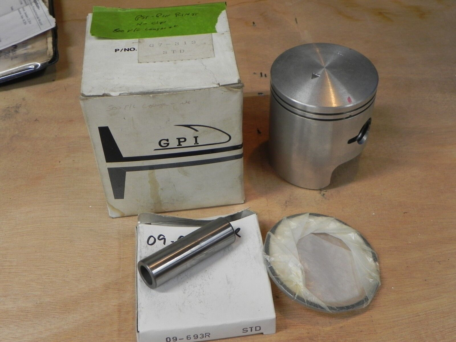 PISTON KIT ARCTIC CAT 500 FAN COOLED & OTHERS GPI BRAND 09 G7-313 MISSING CLIPS
