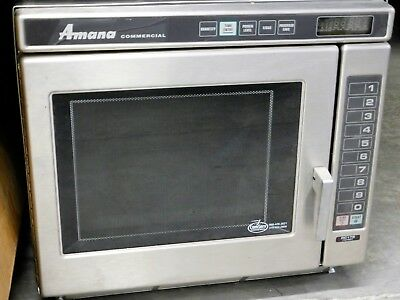 Amana Rc17s2 Commercial Microwave Hd Stainless Steel 208-230v 20a 1700 Watts