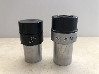 Zeiss Kpl 12.5x Eyepieces - One Has Reticule Insert