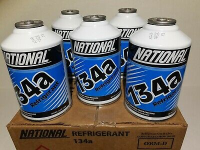 NATIONAL R134a Refrigerant 5 Cans *BEST PRICE ON eBay* AC 12oz can Auto (Best Auto Ac Refrigerant)