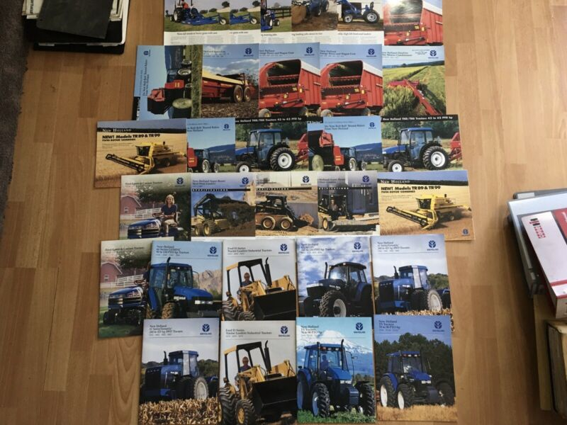 Group 30 vintage New Holland tractor & equipment brochures Good condition