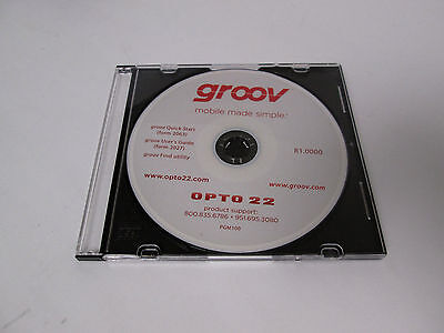 Opto 22 GROOV CD Rom Disc Quick Start User Guide Find (Cd Jewel Case Template)