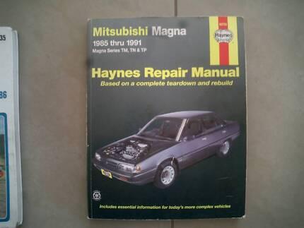 Mitsubishi Magna 1985 to 1911 Haynes Manual. Models TM, TN, TP.