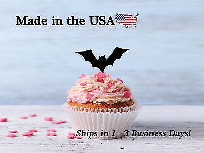 Halloween Bat Cupcake Toppers, Bat, Halloween Decor, Holiday, School, LCT1052](Bat Halloween Cupcakes)