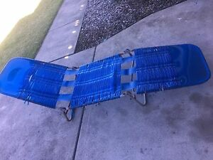 Retro vintage beech beach lounger blue. Free pick up Beresfield Newcastle Area Preview