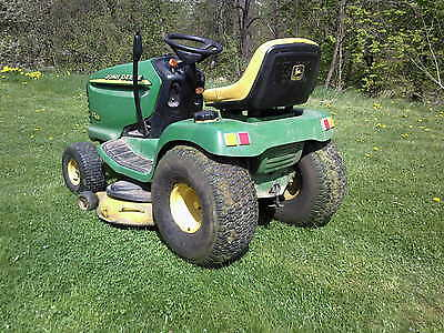 rasentraktor john deere lt 166 test ebay. Black Bedroom Furniture Sets. Home Design Ideas