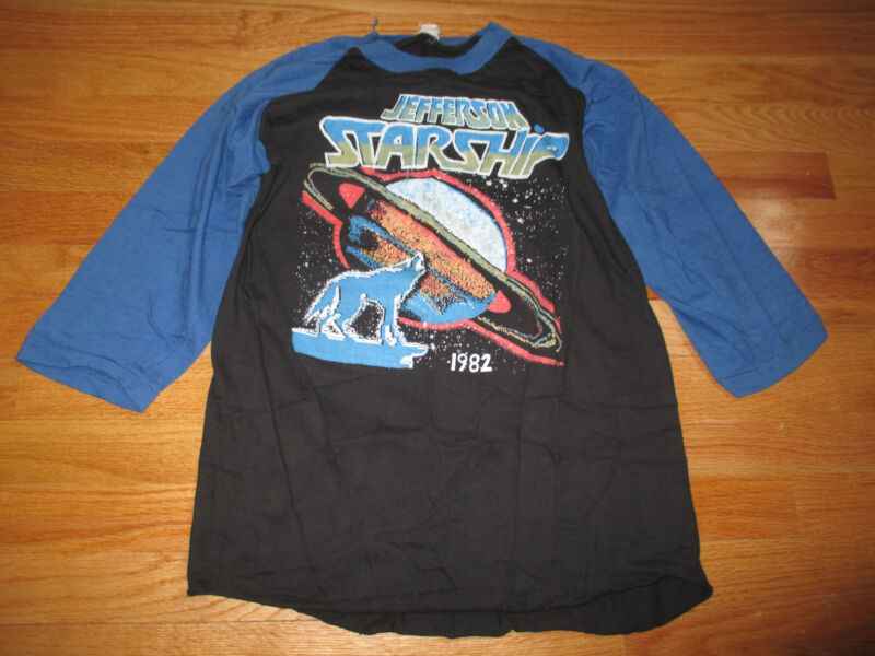 1982 Original JEFFERSON STARSHIP & .38 SPECIAL Concert Tour (LG) Baseball Shirt