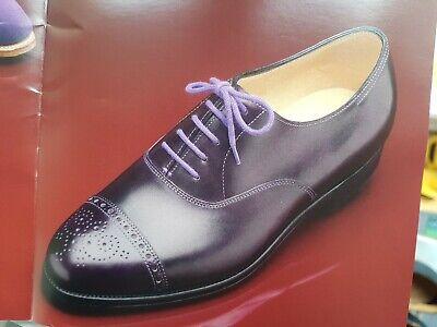 Paul Smith John Lobb Mens Shoe Westbourne All Leather UK 6.5 EU40.5 Iris Purple