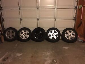 5- 225 65 17 winter tires with rims for sale