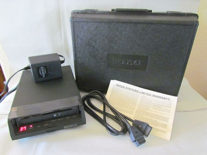 "Indus GT 5.25"" Floppy Disc Drive for Atari inc. Power Supply, Cable, Carry Case"