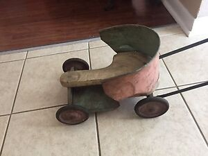 Vintage tin push toy/cart