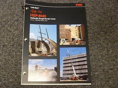 Link-belt Hsp-8040 Rough Terrain Crane Specifications Lifting Capacities Manual