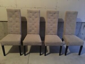 Urban Barn Set Of 4 Chairs Excellent Condition Like New