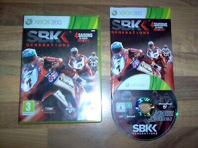 Jeu XBOX 360 - SBK Générations / Super Bike 4 Saisons 2009 - 2012 FR / Rare