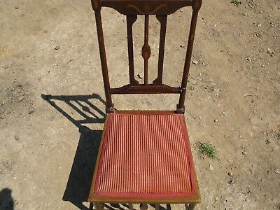 Antique Sheraton Design Solid Wooden Chair with Inlay for Upholstery/Restoration