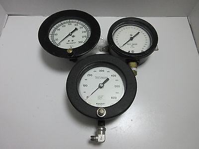 3 Large Gauges - Ashcroft -mastergauge - Usg - Steampunk