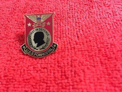 USS FORRESTAL HAT PIN