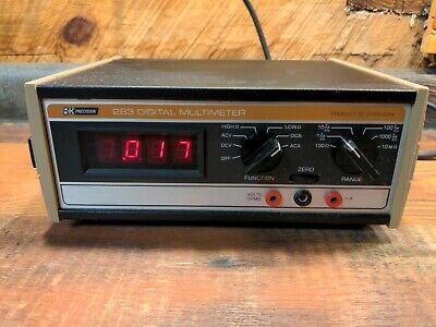 Vintage Dynascan Bk Precision 283 105-130 Vac Digital Multimeter