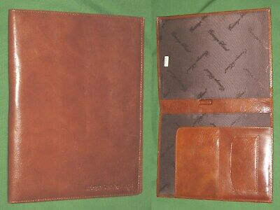 Classic Note Pad Brown Leather Spiral Cover Carriage House Planner Binder