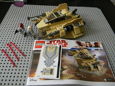 Lego Star Wars - Sandspeeder,Pilot and gunner Minifigs With instructions - 75204