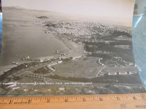 Orig 1934 7x9 Aerial Photo CRISSY FIELD San Francisco California CA