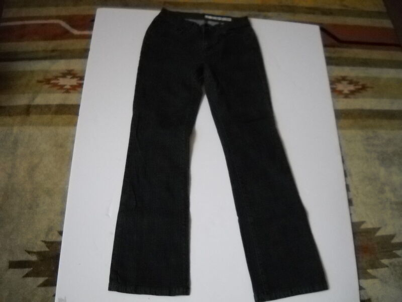 DKNY DENIM BLACK STRETCH FLARED BOTTOM JEANS SIZE 2R