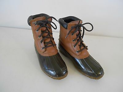 Men's Pro Line Thinsulate Winter Boots 9 Med. Steel Shank Brown Leather & Rubber Thinsulate Winter Liner