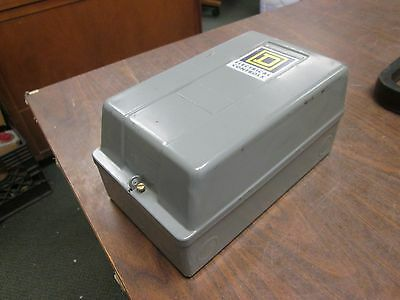 Square D Enclosed Lighting Contactor 8903 Smg 11 30a 120v Coil Used