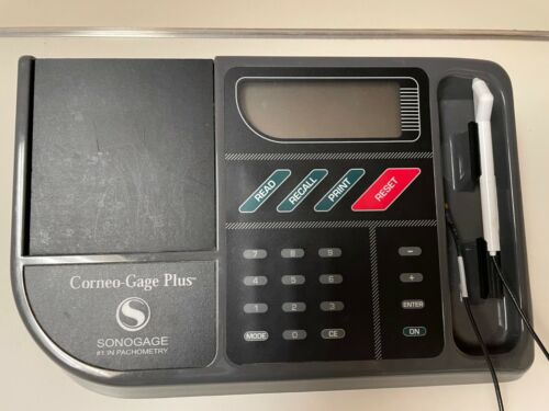 SONOGAGE CORNEO-GAGE PLUS MEDICAL CORNEAL PACHYMETER W/ PROBE