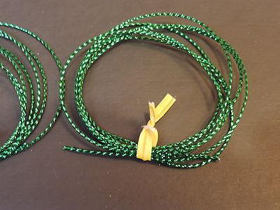 """1 Yard 1//16/"""" Small Green Mylar Tubing Piping Fly Tying"""