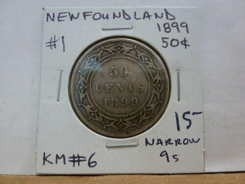 1899 Newfoundland Fifty Cent KM #6--#1
