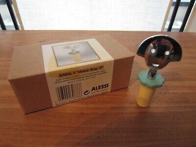 ALESSI *NEW* Bouchon résine Anna Stop jaune et chrome h.9cm d.4cm AM06Y