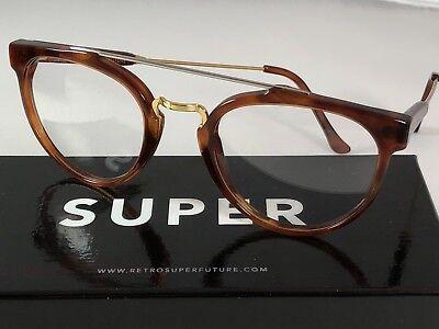 SALE Retrosuperfuture Giaguaro Optical Havana Frame Glasses SUPER 638 49mm NIB