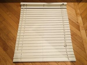 One 2 Inch White Faux Wood Blind