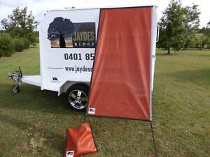 PREMIUM Caravan Fridge / Window Shade ULURU ORANGE Childers Bundaberg Surrounds Preview