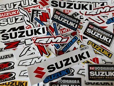 Lot Set of 10 Suzuki Stickers Racing Motorcycle Motocross RMZ Dirtbike Yoshimura