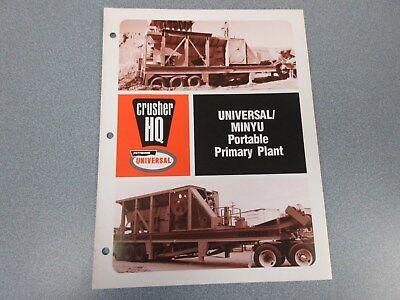 Rare Pettibone Universal Minyu Portable Primary Plant Plant Sales Brochure