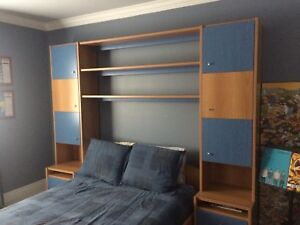 Blue and Maple Neoset Bedroom