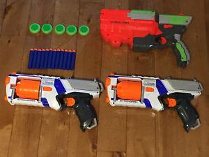 3 nerf guns for $40