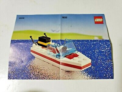 Lego Classic Town Harbor 1632-1 Motor Boat 10a
