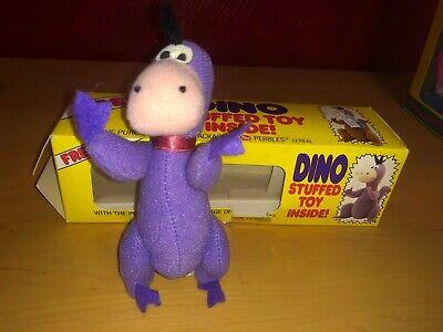 Flintstones 1988 Post Pebbles Cereal Stuffed Dino Figure in Original Box