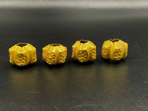 Old Ancient Antique Pyu Dynasty Culture Gold Beads from South east Asia Burma